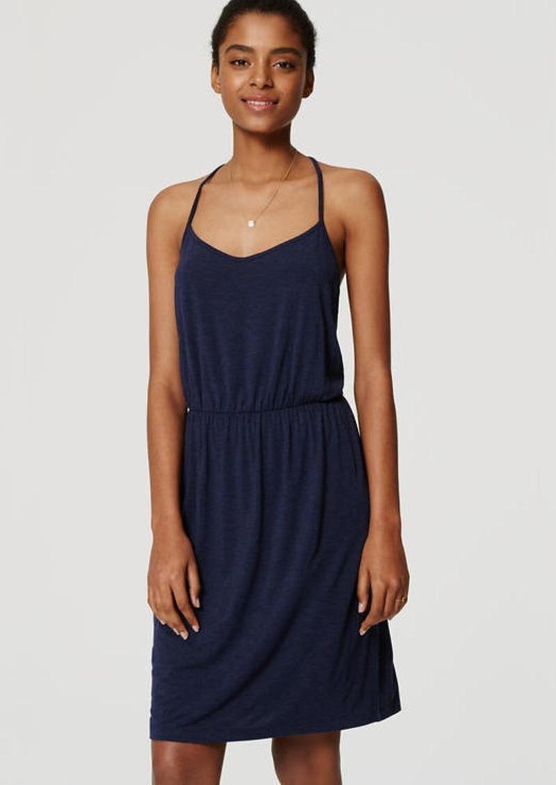 LOFT Strappy Blouson Dress