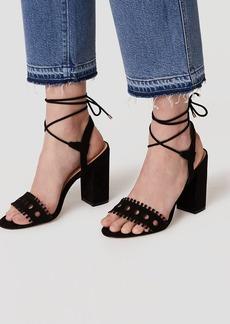 Strappy Cutout Block Heels