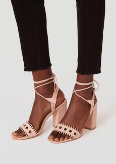 LOFT Strappy Cutout Block Heels