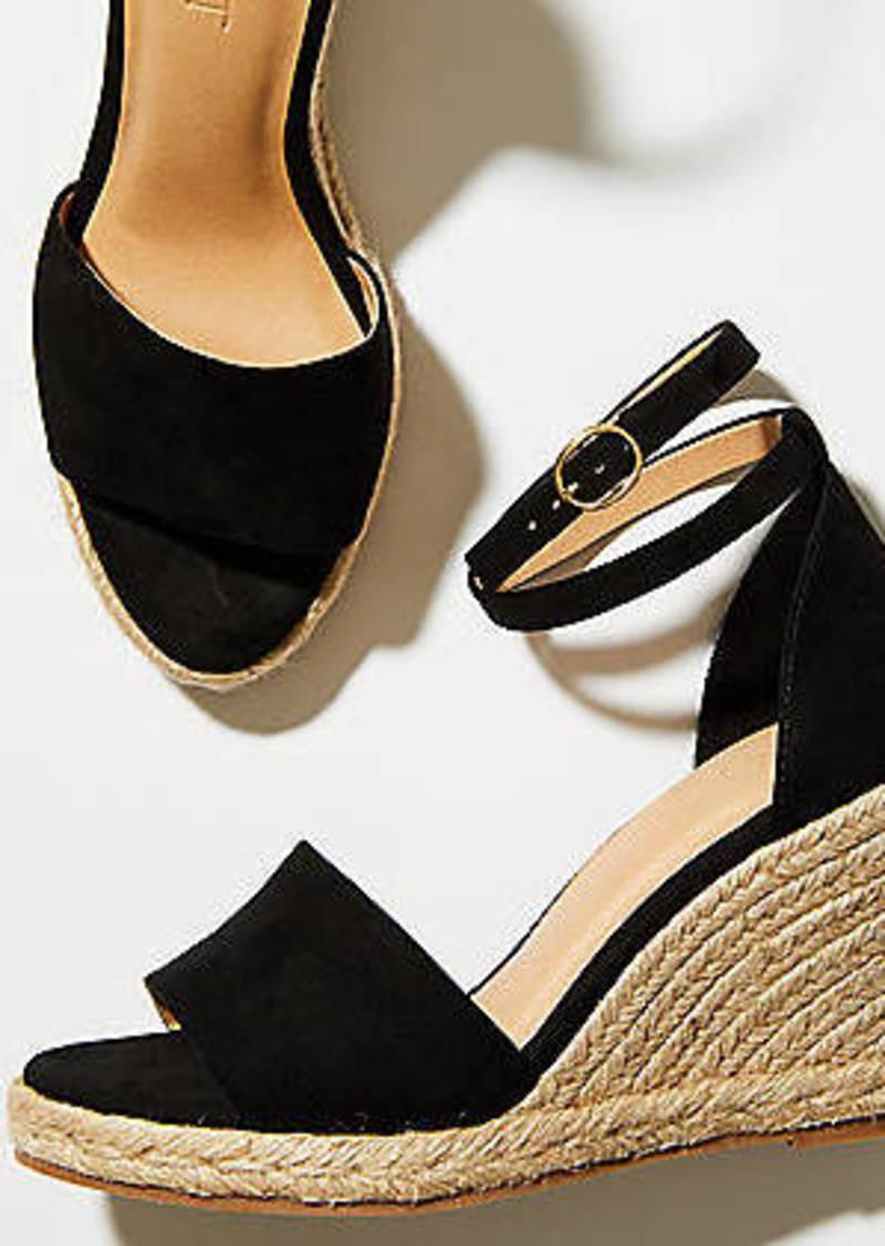 LOFT Strappy Espadrille Wedge Sandals