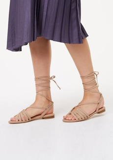 LOFT Strappy Lace Up Sandals
