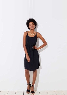 LOFT Strappy Tie Waist Cami Dress