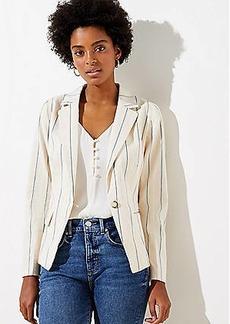 LOFT Stripe Cropped Blazer