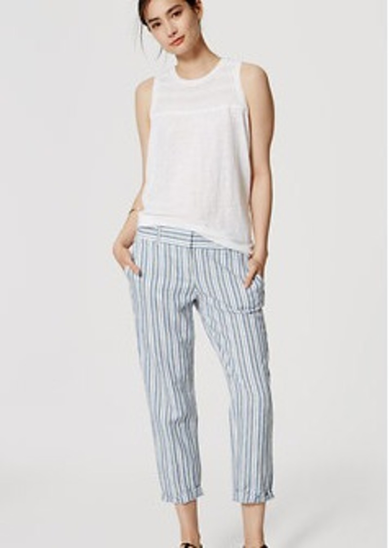 LOFT Stripe Cropped Skinny Chinos in Marisa Fit