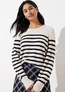 LOFT Stripe Draped Sleeve Sweater