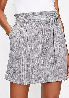 LOFT Stripe Paperbag Pocket Skirt