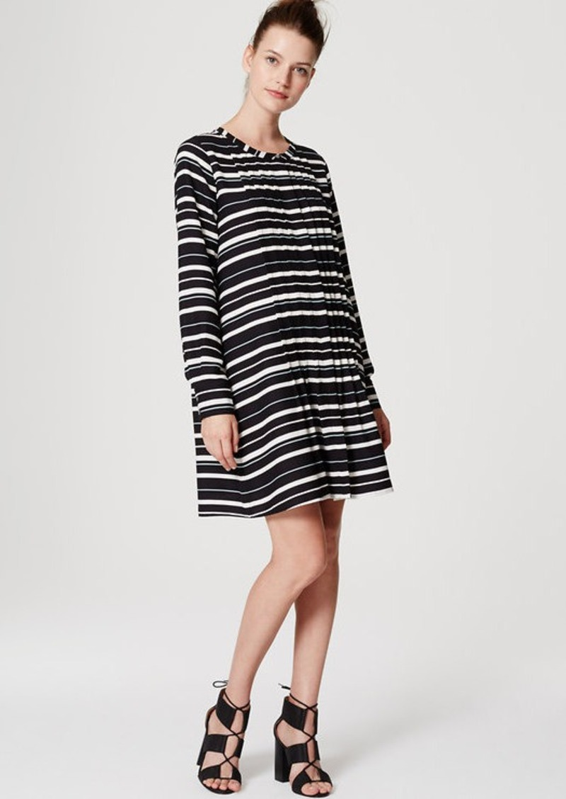 LOFT Stripe Pintucked Dress