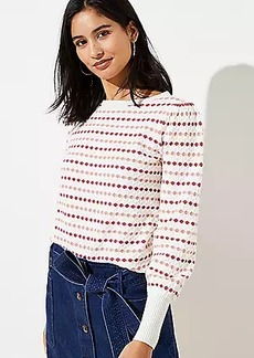 LOFT Stripe Textured Sweater