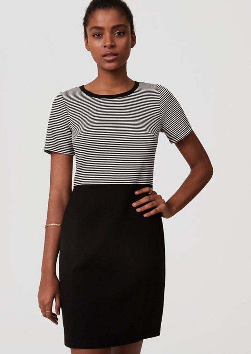 Loft Stripe Top Sheath Dress