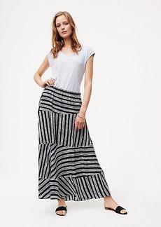 Stripeblock Maxi Skirt