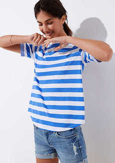 LOFT Striped Ballet Neck Tee