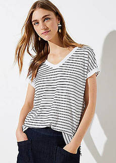 LOFT Striped Bar Back Dolman Tee