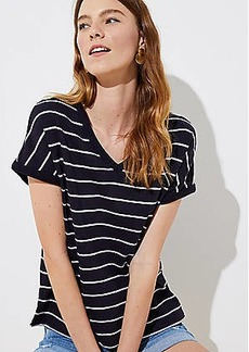 LOFT Striped Bar Back Tee
