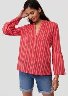 Striped Bell Sleeve Softened Shirt