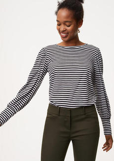 Striped Blouson Sleeve Tee