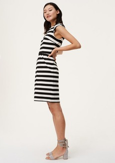 Striped Cap Sleeve Sheath Dress