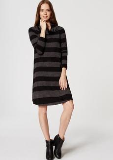 Striped Cowl Neck Dress