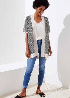 LOFT Striped Dolman Open Cardigan