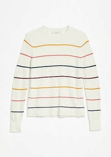 LOFT Striped Modern Crew Neck Sweater