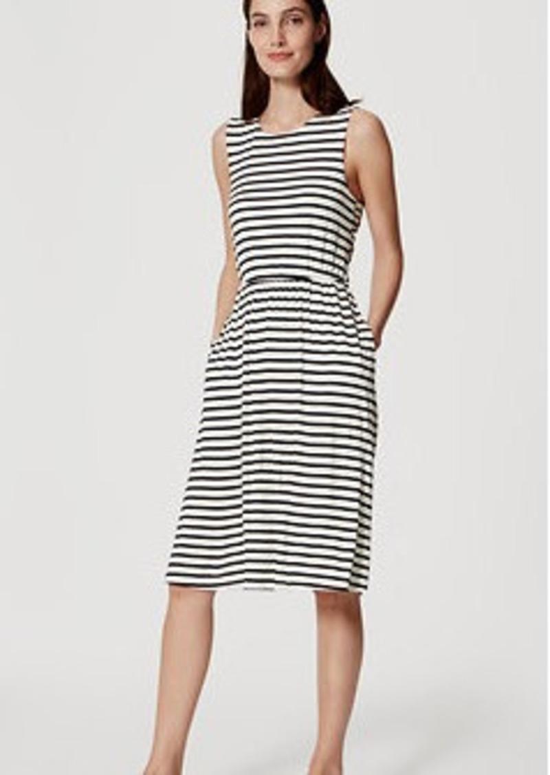 LOFT Striped Cross Back Dress