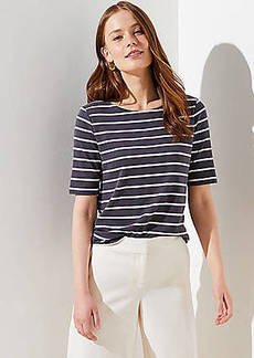 LOFT Striped Cutout Back Tee