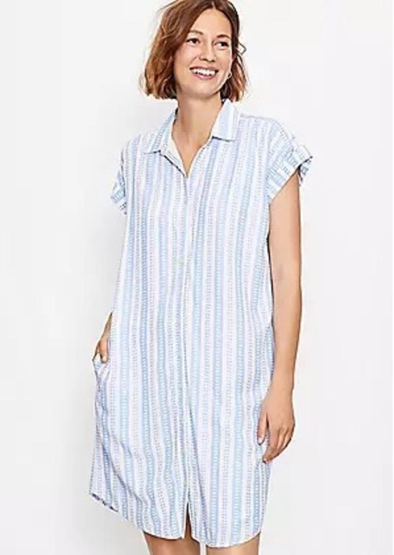 LOFT Striped Dolman Pocket Shirtdress