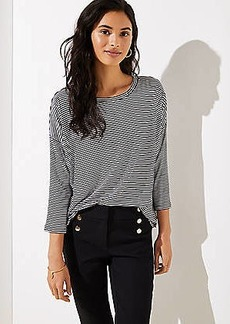 LOFT Striped Dolman Shirttail Tee