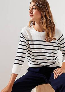 LOFT Striped Dolman Sweater
