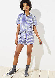LOFT Dotted Stripe Pajama Top