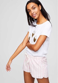LOFT Striped Flannel Pajama Shorts