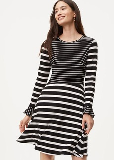LOFT Striped Flare Dress