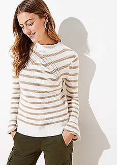 LOFT Striped Flare Sleeve Sweater