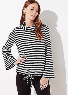 LOFT Striped Flare Sleeve Sweatshirt