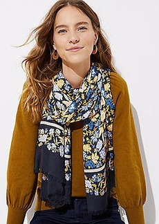 LOFT Striped Floral Scarf