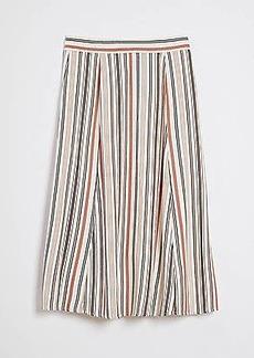 LOFT Striped Fluid Midi Skirt