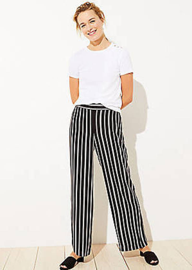 LOFT Striped Fluid Pull On Pants