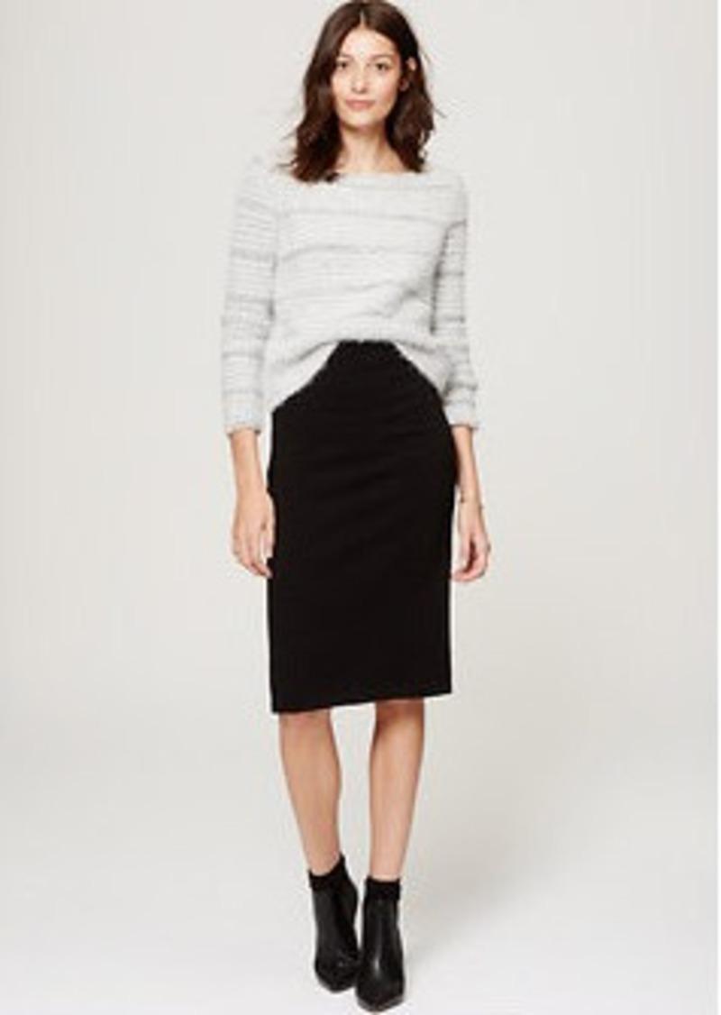 LOFT Striped Fuzzstitch Sweater