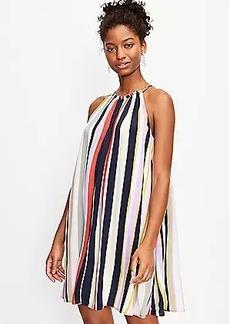 LOFT Striped Halter Pocket Swing Dress