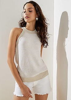 LOFT Striped Halter Sweater