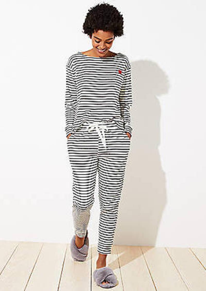 LOFT Striped Heart Pajama Set
