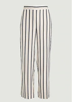 LOFT Striped High Waist Wide Leg Crop Pull On Pants