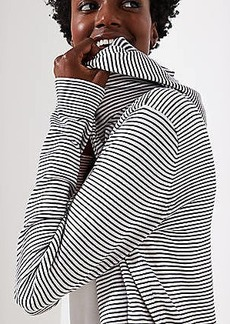 LOFT Striped Hooded Open Cardigan