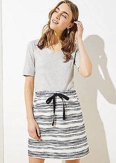 LOFT Striped Knit Jogger Skirt
