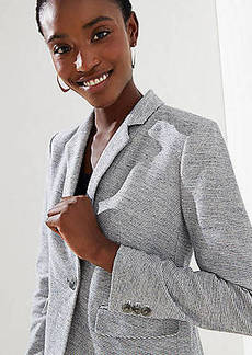 LOFT Striped Knit Modern Blazer