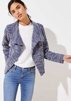 LOFT Striped Knit Moto Jacket