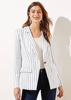 LOFT Striped Modern Blazer