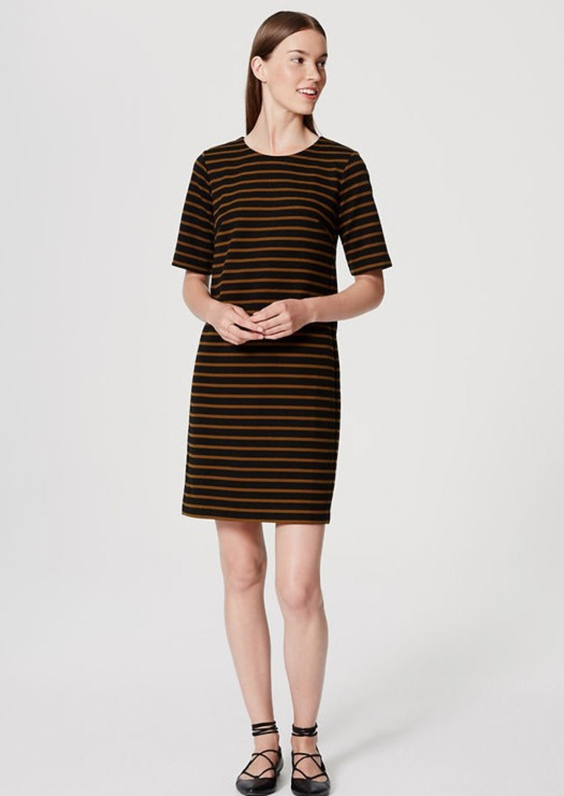LOFT Striped Ottoman Tee Dress