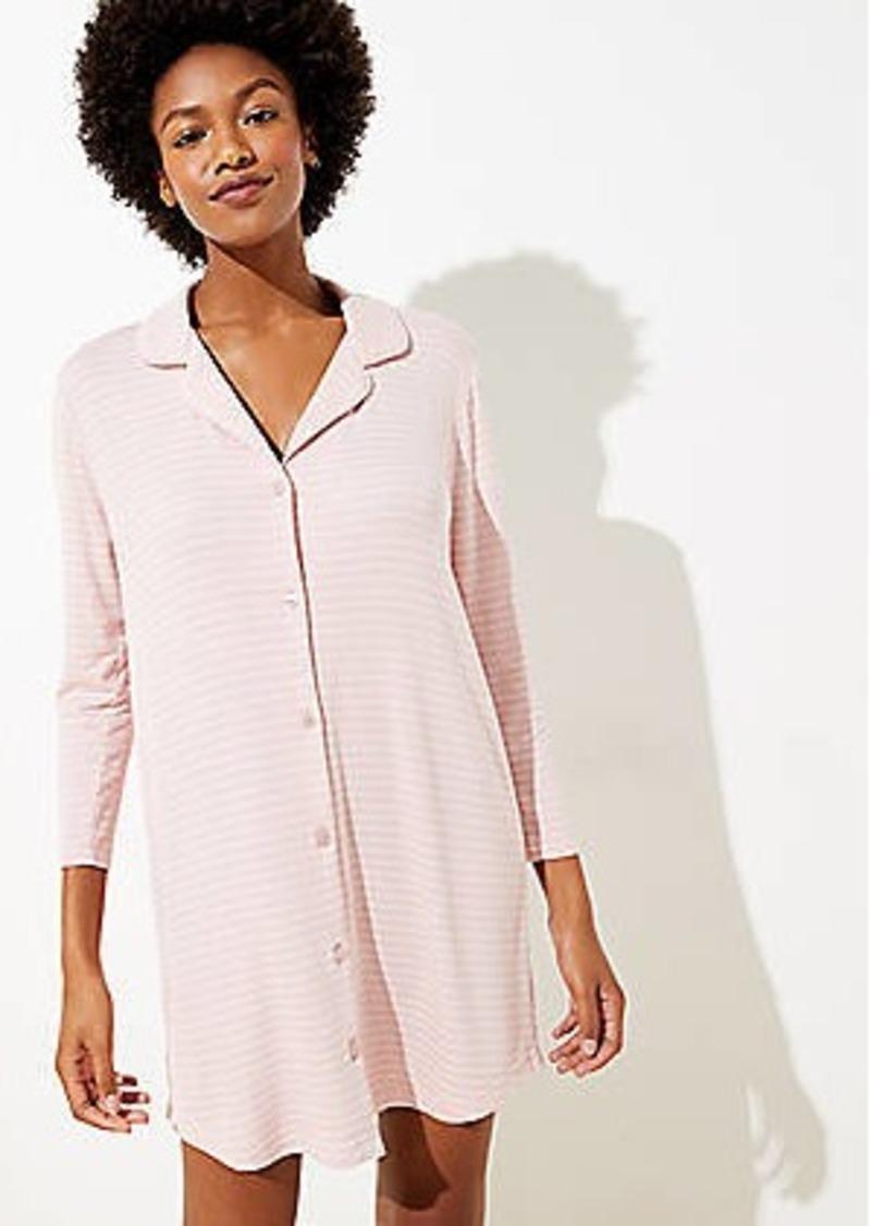 LOFT Striped Pajama Dress