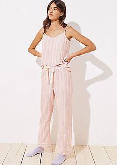 LOFT Striped Pajama Pants