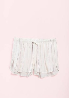 LOFT Shimmer Striped Pajama Shorts